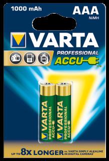 Micro-Akku VARTA ''Professional'' Ni-MH, 1000 mA, Typ AAA, 2er Blister