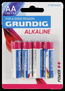 Mignon-Batterie GRUNDIG Alkaline, 1,5V, Typ AA/LR6, 4er Blister