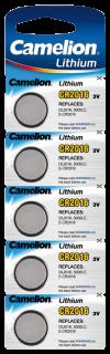 Lithium-Knopfzelle CAMELION CR-2016 3,0V, 5er-Blister