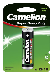 Duplex-Stabbatterie CAMELION Super Heavy Duty 3V, Typ 2R10