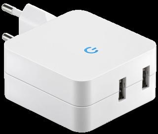 USB-Stecker-Netz-& Ladegerät McPower ''Home-Plug'' 100-240V > 5,0V=, 4200mA