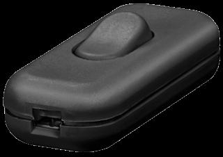 Schnurschalter, schwarz 250 V/2 A