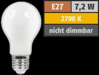 LED Filament Glühlampe McShine ''Filed'', E27, 7,2W, 720 lm, warmweiß, matt