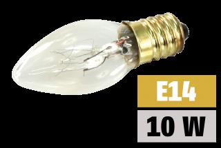 Mini-Kerzenlampe McShine, E14 230V, 10W, klar