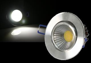 LED-Einbauleuchte McShine ''EL-5'' 5W COB, 390Lm, Ø85mm, warmweiß