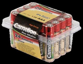 Micro-Batterie CAMELION ''Plus Alkaline'' 1,5 V, Typ AAA/LR03, 24er Haushaltspack