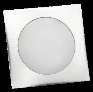 LED-Einbauleuchte McShine ''Fine'', 9 LEDs, warmweiß, 55x55mm, quadratisch, Edelstahl