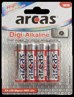 Mignon-Batterie Digi-Alkaline 1,5V, Typ AA/LR6, 4er Pack