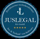 JusLegal-Siegel_zertifizierter-rechtskonformer-An-und-Verkauf-von-Software_300m9yHWbM3W6htC