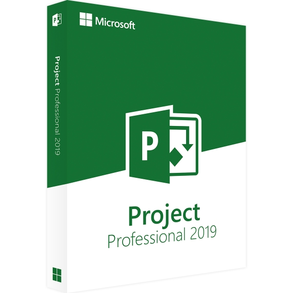 Microsoft Project 2019 Professional 32/64 Bit - Retail (Aktivierung: office.com)