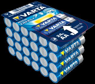 Mignon-Batterie VARTA ''HIGH ENERGY'' 1,5V, Typ AA/LR6, 24er-Haushaltspack