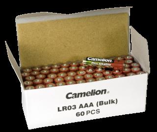 Micro-Batterie CAMELION Alkaline 1,5 V, Typ AAA, 60er-Pack