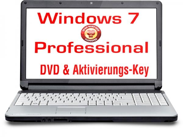 Windows 7 Professional OEM 32 Bit DVD+Aktivierungscode