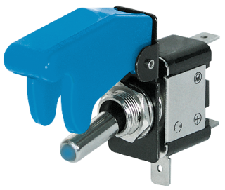 Kill-Switch mit Schutzkappe und LED, 12 V/35 A, blau