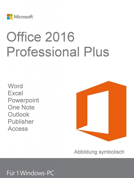 Microsoft Office 2016 Professional Plus 32/64 Bit -VL- (B2B)