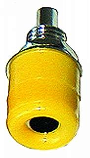 Bananen-Buchsen 4mm Bef.-Mutter mit Ring, gelb (Telefonbuchsen)
