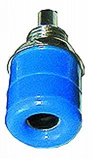 Bananen-Buchsen 4mm Bef.-Mutter mit Ring, blau (Telefonbuchsen)