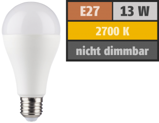 LED Glühlampe ''HD95'' E27, 13W, 1055lm, 2700K, warmweiß, Ra>95