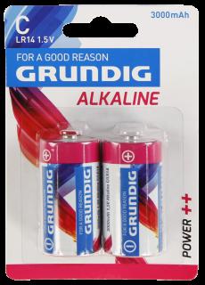 Baby-Batterie GRUNDIG Alkaline, 1,5V, Typ C/LR14, 2er Blister