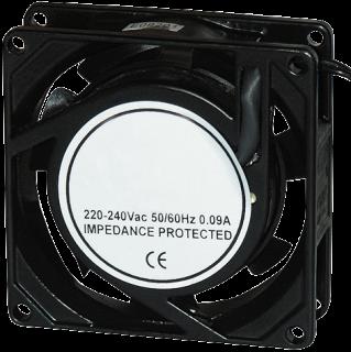 Lüfter McPower 80x80x25 mm, 230 V Aluminium, 80 mA, 2100 rpm, 29 dBa