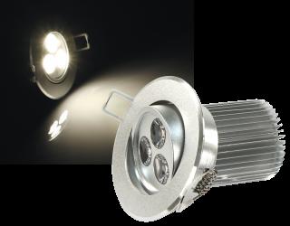 LED-Einbaustrahler McShine ''LES-986'' 9W LEDs, Ø86mm, warmweiß