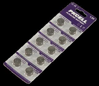 Knopfzelle McPower AG13, 11,6x5,4 mm, 1,5 V 10er-Pack auf Blister