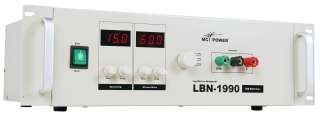 Netzgerät McPower ''LBN-1990'' 19'', 3 regelbare Bereiche 0-15V, 0-30V, 0-60V, 900W, max. 60A