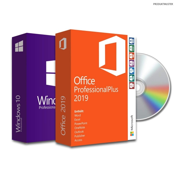 Bundle Windows 10 pro + Office 2019 proPLUS -Retail- ESD|USB|DVD
