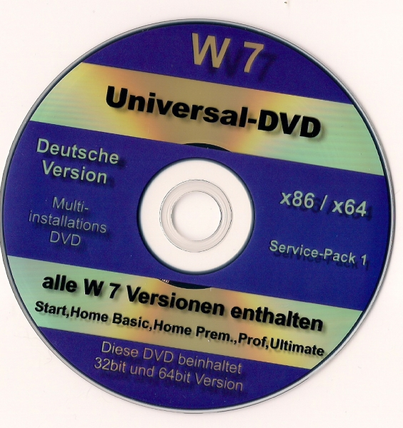 Windows 7 Ultimate OEM 32 Bit DVD+Aktivierungscode