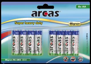 Mignon-Batterie Super Heavy Duty 1,5V, Typ AA/R06, 8er Pack