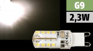 LED-Stiftsockellampe McShine ''Silicia'' G9, 2,3W, 180lm, warmweiß