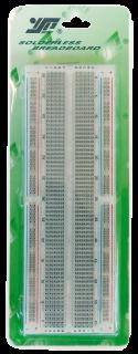 Experimentier-Board 200/630 Kontakte, erweiterbar, 165x54x9mm, transparent