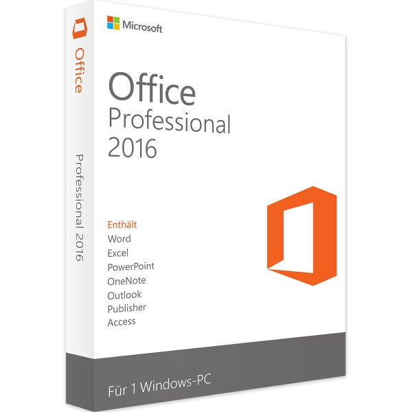 MS Office 2016 Professional (OEM) (Aktivierung: office.com)