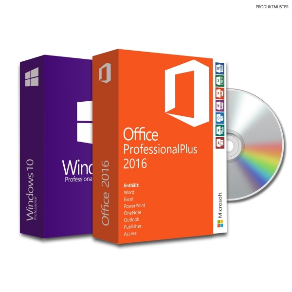 Bundle Windows 10 pro + Office 2016 proPLUS -VL- ESD|USB|DVD