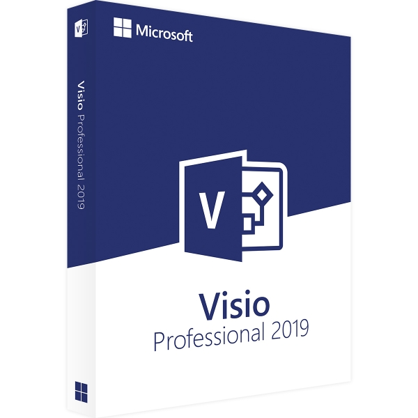 Microsoft Visio 2019 Professional 32/64 Bit - Retail (Aktivierung: office.com)