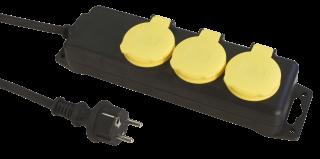 Steckdosenleiste 3-fach, IP44 1,4m Zuleitung