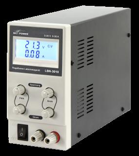 Labor-Netzgerät McPower ''LBN-3010'' 0-30V, 0-10A regelbar, LC-Anzeige