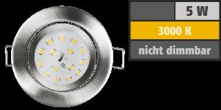 LED Einbauleuchte McShine ''Slim'' 82x28mm, 5W, 400lm, 4000K, Edelstahl gebürstet
