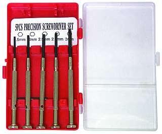 Micro-Schraubendrehersatz McDrill ''6-IK'' 2x Kreuz, 3x Innensechskant
