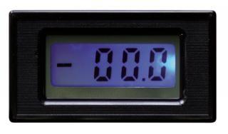 Panel-Meter McPower ''PM-435 blau'', digital, mit LCD-Anzeige und Beleuchtung