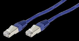 Netzwerk-Kabel CAT-6 Patchkabel 2m, für 1 GBit Netzwerke, blau