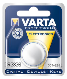 Lithium-Knopfzelle VARTA CR 2320, 135mAh, 3V, 1er Blister