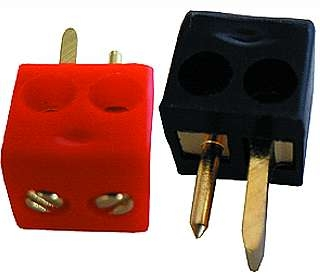 Auto-Lautsprecher-Stecker vergoldet rot
