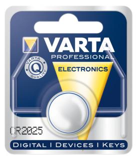 Lithium-Knopfzelle VARTA CR 2025, 170mAh, 3V, 1er Blister