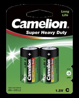 Baby-Batterie CAMELION Super Heavy Duty 1,5 V, Typ C, 2er-Blister