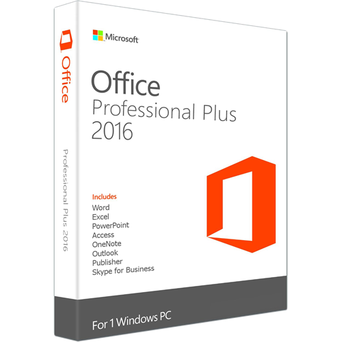 Office 2016 professional PLUS 32/64 Bit (VL-ESD-DE)
