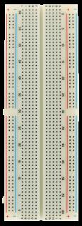 Experimentier-Board 200/630 Kontakte, erweiterbar, 165x54x9mm, weiß