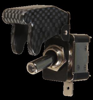 Kill-Switch mit Schutzklappe und LED, carbon, Schaltleistung 12V/35A