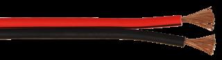 Lautsprecherkabel 10m-Ring, 2x2,5mm, schwarz/rot