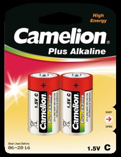 Baby-Batterie CAMELION Plus Alkaline 1,5 V, Typ C/LR14, 2er Blister